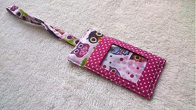 Iné tašky - Visačka na kufor či tašku-ružová-sovičková - 2256182