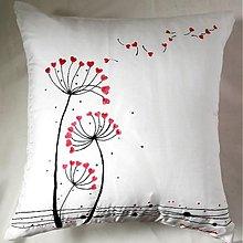 Úžitkový textil - Hodvábny vankúš Púpavy vo vetre - 2256807
