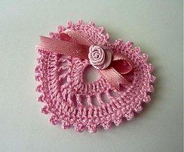 Dekorácie - Dekoračné srdiečko- ružové - 2258058