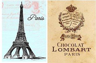 Papier - Vintage nažehlovacie obrázky - Paris - 2258596