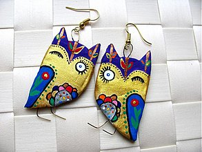 Náušnice - Owl blink! - 2258669