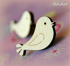 Materiál ručne robený - Gombíček vtáčik - 2259735