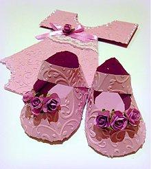 Papiernictvo - Topánočky Fialôčky - 2260582