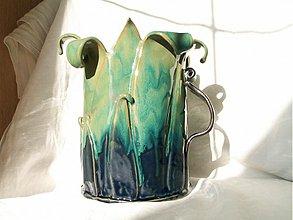 """Dekorácie - váza """"letné lístky"""" - 2262111"""