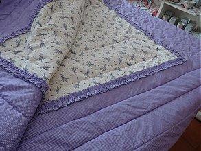Úžitkový textil - levandulkový prehoz na želanie:) - 2263387