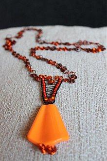 Sady šperkov - Medená a oranžová - 2265893