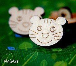 Materiál ručne robený - Gombíček mačička - 2267389