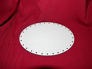 Materiál ručne robený - Spodok oval na Pedig 13x19cm - 2267453