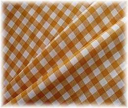 Textil - bavlněná látka-žlutobéžový kanafas - 2268933
