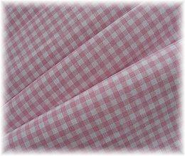Textil - bavlněná látka-KANAFAS-růžový - 2268935