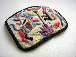 Brošne - Textilná brošňa - otomi 4 - 2270894