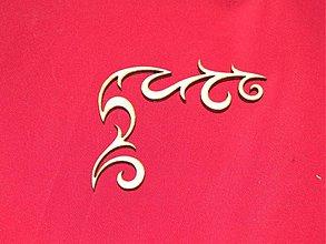 Materiál ručne robený - Vyrezavaný ornament 2 - 2272604
