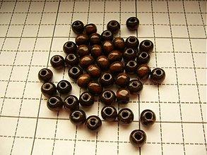 Korálky - Drevená korálka 0,8 cm - 2273840