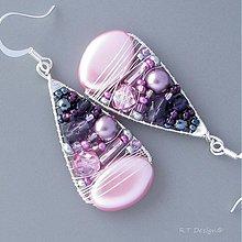 Náušnice - Náušnice Blueberry ice cream II... - 2274062
