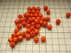 Korálky - Drevená korálka 0,8 cm - 2274177