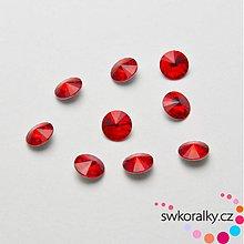 Korálky - RIVOLI 6 SWAROVSKI ® ELEMENTS 1122 - light siam ruby - 2275801