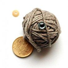 Iný materiál - 8mm bezpečnostné šedé oči pre hračky - 2277167