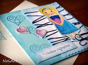 Papiernictvo - Pohľadnica - Všetko najlepšie, dievčatko 2 - 2277455