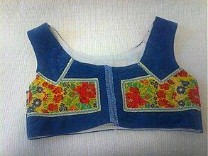 Iné oblečenie - Modrý s folklórnou stuhou...... - 2280317