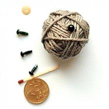 Iný materiál - 6mm bezpečnostné čierne oči pre hračky - 2281128