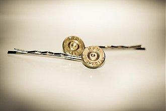 Ozdoby do vlasov - Vystrelený rešpekt...Vlasová sponka, 9 mm Luger - 2282416