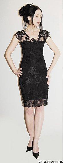 Šaty - Malé čierne krajkové.. - 2286088