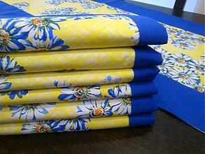 Úžitkový textil - Sedmokráska v modrej- prestieranie AKCIA!!! - 2287674