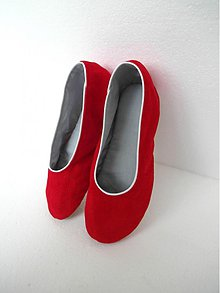 Obuv - Batinky červené - klasik - 2291892