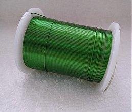 Suroviny - Biž.drôt 0,3mm-10m (6-zelená) - 2296005