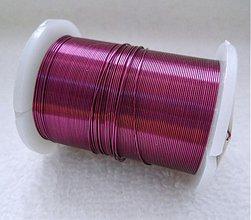 Suroviny - Biž.drôt 0,3mm-10m (7-ruž.fialová) - 2296008