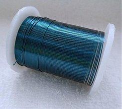 Suroviny - Biž.drôt 0,3mm-10m (8-tm.modrá) - 2296009