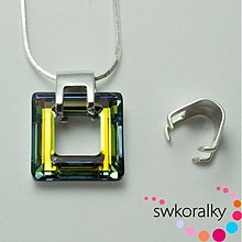 Komponenty - Šlupna na SQUARE RING 20 SWAROVSKI ® ELEMENTS - 2296158