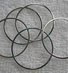 Komponenty - Kov.krúžok 25x1mm-platina-1ks - 2296315