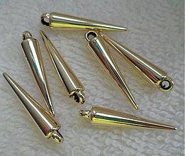 Korálky - Plast.prív-hrot-zlatá-1ks - 2296336