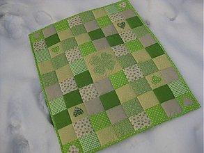 Textil - ďatelinka v snehu :-) - 2296443