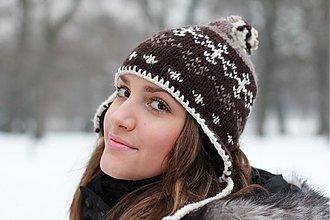 Čiapky, čelenky, klobúky - čiapka s vypletaným nórskym vzorom - 2298194