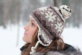 Čiapky, čelenky, klobúky - čiapka s nórskym vzorom - melanž - 2300097