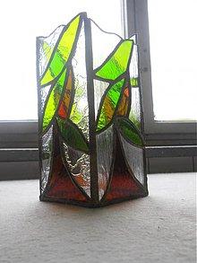 Dekorácie - vitrážna váza-príroda - 2300356