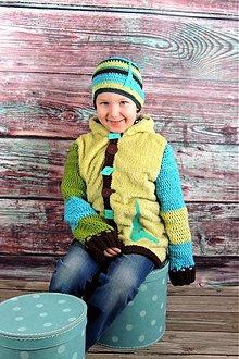 15df5909a698 Detské oblečenie - Zmiešaná bundička a čiapka-Eifelovka - 2305101