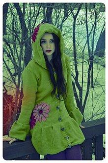 Svetre/Pulóvre - Kabátik zelený - 2305590