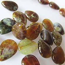 Minerály - Achát Peru korálka / slza 16x12 - 2307903