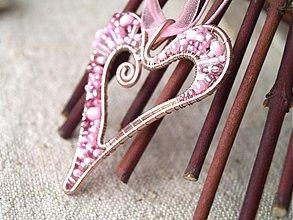 Náhrdelníky - ružové srdiečko - 2309639