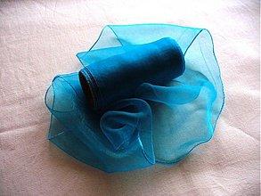 Textil - organza stuha 11cm tyrkys - 231033