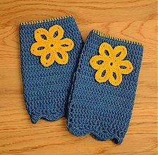 Rukavice - Kvetované rukavice - 2317040