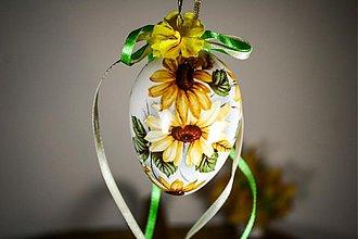 Dekorácie - Veľkonočné vajíčko - Rudbekia - 2319879