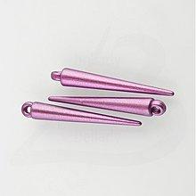 Korálky - AKO672, Akryl HROTY 3.6cm Metal RUŽOVÁ /10ks - 2321808