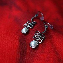 Náušnice - Presmyčkové s perličkou - 2324027