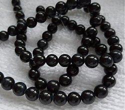 Korálky - Perleť 5mm-1ks (čierna) - 2324151