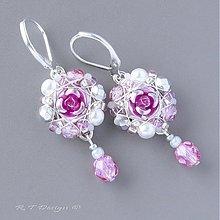 Náušnice - Náušničky Královna květin II... - 2326513