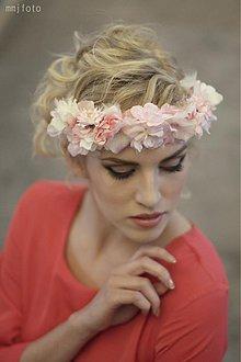 Ozdoby do vlasov - Venček ružovo-biely by Hogo Fogo - 2327683